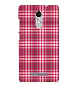 Red checks 3D Hard Polycarbonate Designer Back Case Cover for Xiaomi Redmi Note 3 :: Xiaomi Redmi Note 3 (3rd Gen)