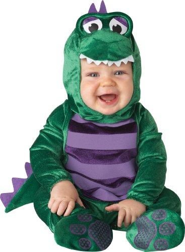 Incharacter Unisex-Baby Newborn Dinosaur Costume, Green/Purple, Small front-1027403