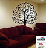 Digiflare Graphics - Large 6ft Tree Wall Decal - BLACK