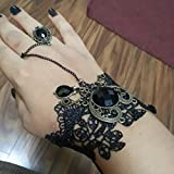 Alcoa Prime Black Lace Bracelets Lolita Acrylic Beads Metal For Women 2016 Hot Sale Bracelet