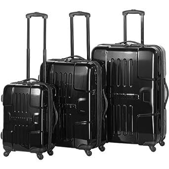 Hummer 3 Piece Luggage Set Color: Black