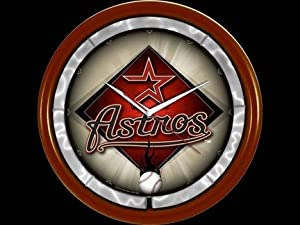 Houston Astros Plasma Neon Clock by Authentic Street Signs