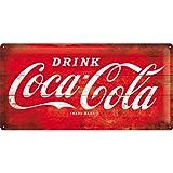 Tin Sign 25 x 50 cm - Coca Cola Logo Red