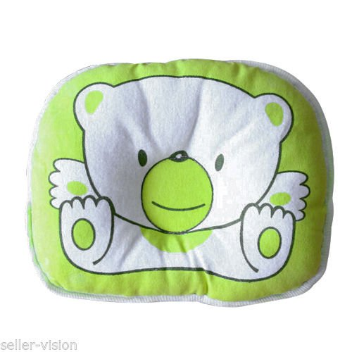 1PCS Bear Pattern Pillow Newborn Infant Baby Support Cushion Pad Prevent Flat Head - 1