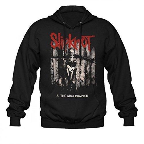 Slipknot-Felpa con cappuccio, colore: grigio, capitolo 5 l nero Large