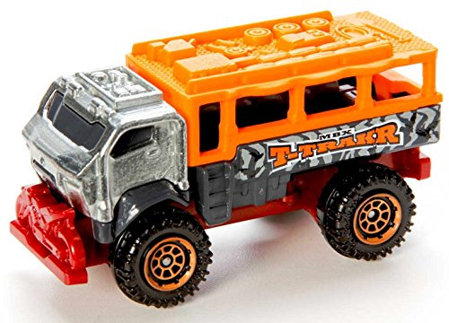 Matchbox Travel Tracker T-Traker silber-orange – Safari Off-Road Truck – MBX Explorers als Weihnachtsgeschenk