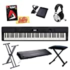 Casio Privia PX-350 88-Key Digital Piano Bundle with Gearlux JX-90 Bench, Gearlux JX-52 Stand, Gearlux Dust Cover, Cherub WTB-004 Sustain Pedal, Samson HP-10 Headphones, Hal Leonard Instructional Book, and Austin Bazaar Polishing Cloth - Black