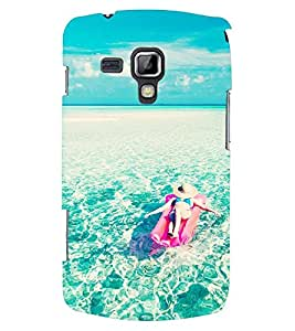 Printvisa Girl Relaxing With The Oceanic Waves Back Case Cover for Samsung Galaxy S Duos S7562