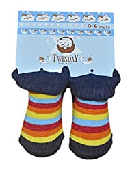 Imported New Born Baby Socks - Unisex (0 to 6 months) Color Stripes