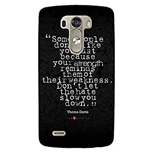 Jugaaduu Inspiring Quote Back Cover Case For Lg G3 D855