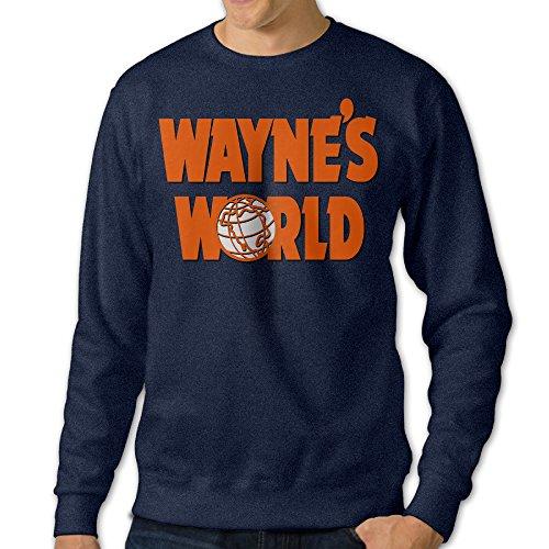 JXMD Men's Wayne's World Crewneck Hooded Sweatshirt Navy Size L (Drop The World Lil Wayne compare prices)