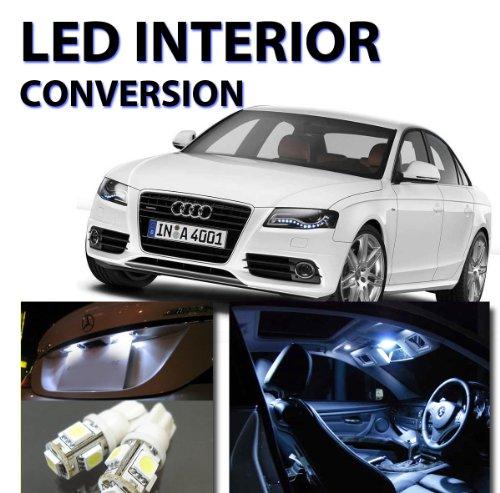 Audi S4 A4 2009-2012 18 Lights Led Interior Light Kit Smd Lamp Bulbs Error Free (White 6000K)