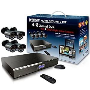 Kworld Kguard Video Surveillance System with 4 CMOS Cameras and 500GB HDD Complete Kit KG-CA14-C02