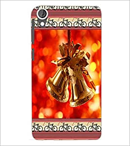 PrintDhaba Christmas Bells D-2515 Back Case Cover for HTC DESIRE 820 (Multi-Coloured)