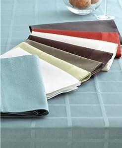 Calvin Klein Satin Band White Tablecloth - Rectangle 60 x 104 in.