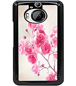 ColourCraft Beautiful Flowers Design Back Case Cover for HTC ONE M9 PLUS