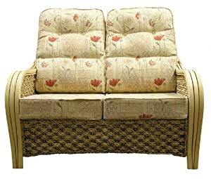 Cane Furniture Replacement SOFA CUSHIONS ONLY DELUXE LUMBAR SUPPORT Cane Wicker Rattan Conservatory Furniture Gilda® (Dean Gold with Self Piping) from Gilda Ltd