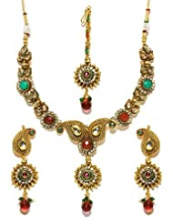 Bindhani gold plated kundan jewellery set-kum103