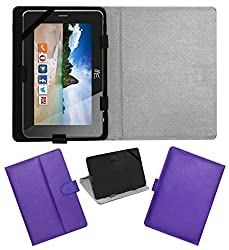 ACM LEATHER FLIP FLAP TABLET HOLDER CARRY CASE STAND COVER FOR HCL ME CONNECT 2G 2.0 PURPLE