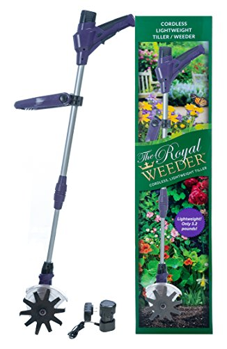 The Royal Weeder Lightweight Electric Tiller and Cultivator with Rechargeable Battery and Charger (Cultivator Electric compare prices)