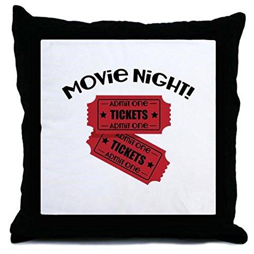 CafePress - Movie Night! - Throw Pillow, Decorative Accent Pillow (Movie Ticket Accent Pillow compare prices)