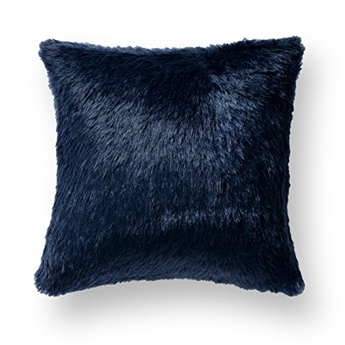 Knitee Extra Soft Long Faux Fur Throw Pillow Cover Cushion Case Square 18
