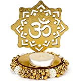Giftacrossindia Exclusive Shadow Diya Tealight Candle Holder Of Removable OM For Diwali Home Decor Gift Collection