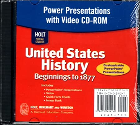 Power Presentations with Video CD-ROM, United States History Beginnings to 1877