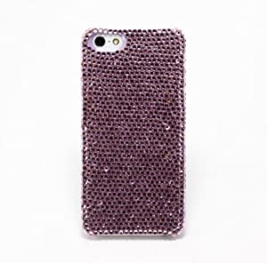 Newsh Purple Swarovski Element Crystal Cell Phone Cover Case for Iphone5 5s