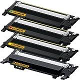 Set of 4 Remanufactured Samsung Laser Toner Cartridges CLT-K406S CLT-C406S CLT-M406S CLT-Y406S