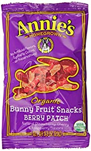 Annie's Berry Patch Organic Fruit Snacks, 18-Count 0.8 oz Pouches