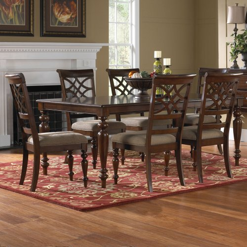 Standard Furniture Cosmo 5 Piece Round Coffee Table Set W: Standard Furniture Woodmont 7 Piece Leg Dining Room Set In
