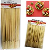 50 Bamboo Skewers Paddle Sticks Wooden Grill Kebab Barbeque Party Stick 15CM Pack