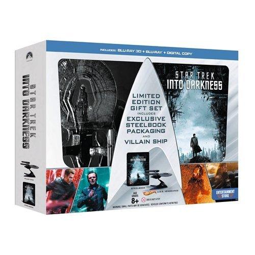 Star Trek into darkness blu-ray the villain edition (comprende blu-ray 2d e 3d in confezione di metallo e modellino della nave) esclusiva uk