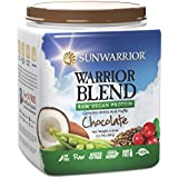 Sunwarrior Warrior Blend Raw Vegan Protein Powder, Chocolate 1.1 lbs (FFP)