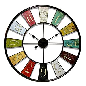 Infinity Instruments Kaleidoscope 32 Metal Wall Clock Home Kitchen