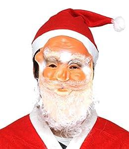 サンタクロース マスク 帽子 サンタ 老人 お爺さん クリスマス 仮面 ラバーマスク