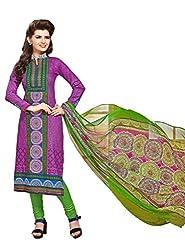 PADMiNi Ethnicwear Women's Dress Material Purple 1005