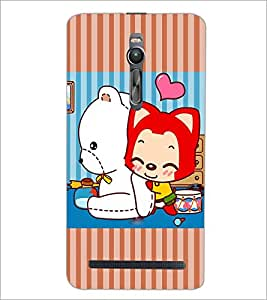 PrintDhaba Cartoon D-3876 Back Case Cover for ASUS ZENFONE 2 (Multi-Coloured)