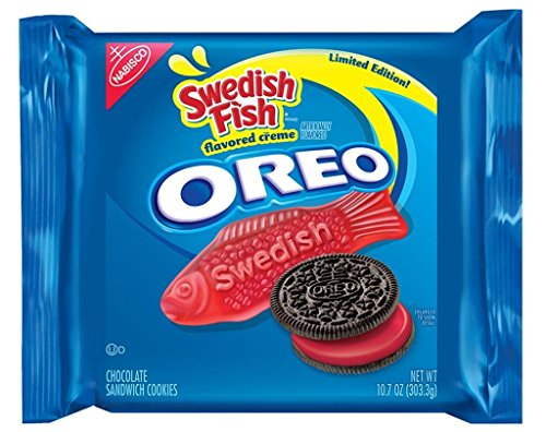 Limited Edition Swedish Fish Oreo Sandwich Cookies, 10.7 OZ (Packages Of Blue Jelly Beans compare prices)