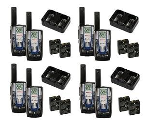NEW! 4 PAIR COBRA CXR825 30 Mile 22 Channel FRS GRMS Walkie Talkie 2-Way Radios by Cobra