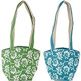 Random Handbags (Green and Blue, Combo of 2)