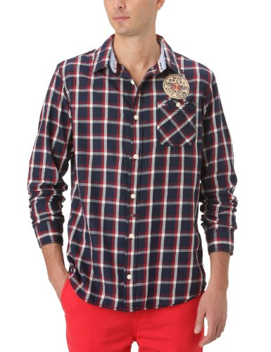 Hilfiger Denim Men's Faron Shirt L/S / 1957818903 Casual Shirt Multicoloured (956 Dark Navy-Pt/ Multi) 54