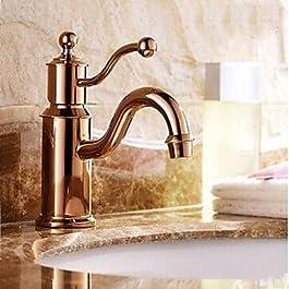kai Rose Gold Ein Loch Einzel-Griffe Waschbecken Wasserhahn