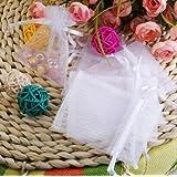 """Rina's Garden Organza Favor Bags - 3""""x4"""" - White Color - Pk of 120"""