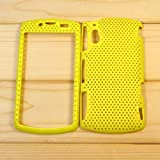 【全10色】Sony Ericsson Xperia Play R800i メッシュケース ハードケース シェルケース  イエロー Plastic Case for Xperia Play R800i (1500-2)