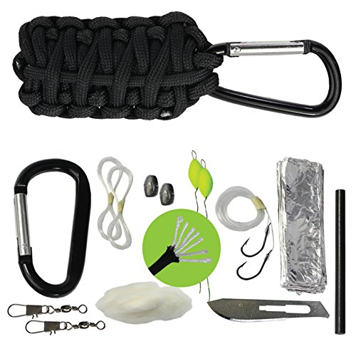 Survival Frog Paracord Grenade Survival Kit with Carabiner