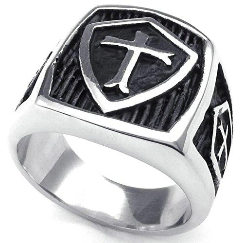 gnzoe-bijouxhommes-acier-inoxydable-anneaux-bandes-hield-croix-silver-noir-retro-taille-715