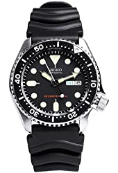 SEIKO Black Men's model SKX007KC overseas reimportation watch