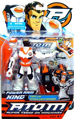A.T.O.M. Alpha Teens on Machines - Power Ram King with Pop-Up Shoulder Armor + BONUS DVD